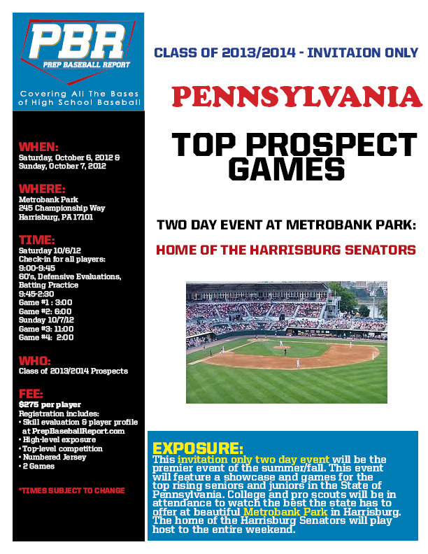PA Top Prospect Games 10-6-12